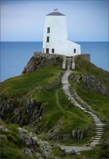 Eric M Ladbury ~ Llanddwyn Lighthouse Anglesey