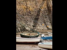Francesca Kehoe ~ Boats at Low Tide